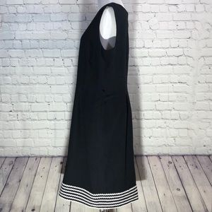 Anne Klein Black and White A-Line Dress Size 12